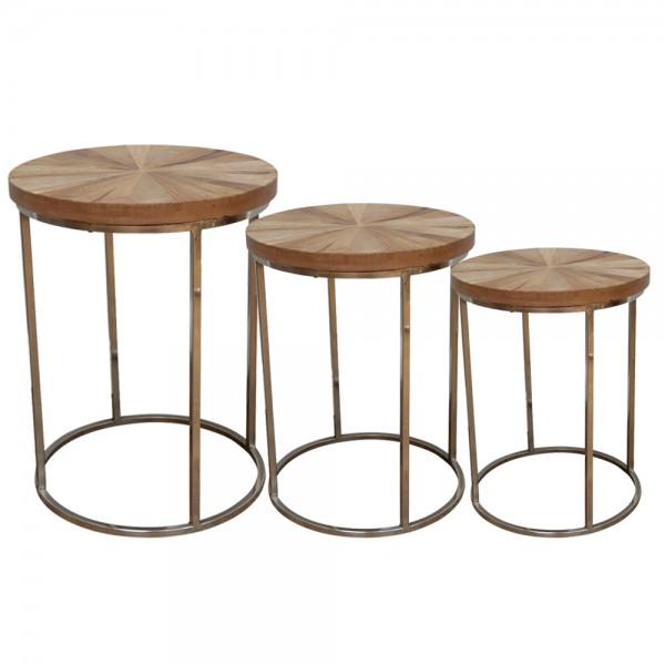 dasmöbelwerk Beistelltisch Holz Satztisch Couchtisch Tisch Massivholz 3 Größen