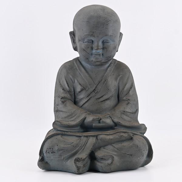dasmöbelwerk Buddha Garten Deko Figur Statue Skulptur Feng Shui Asia Mönch Meditation 43 cm