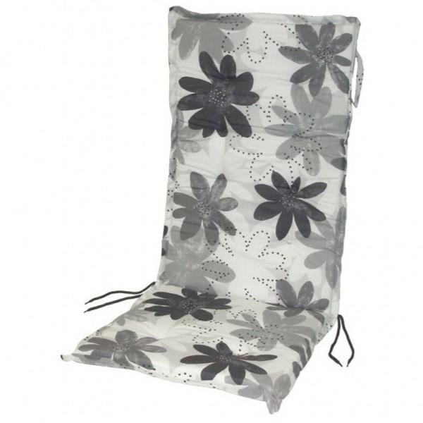 dasmöbelwerk Hochlehner Auflage Sitzpolster Grau mit Blume SUN GARDEN