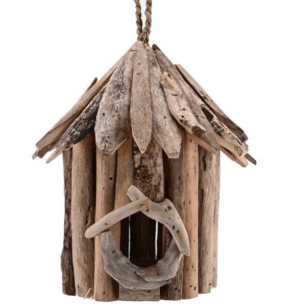 Vogelhaus Futterhaus Nistkasten Vogelhäuschen aus Treibholz zum Hängen