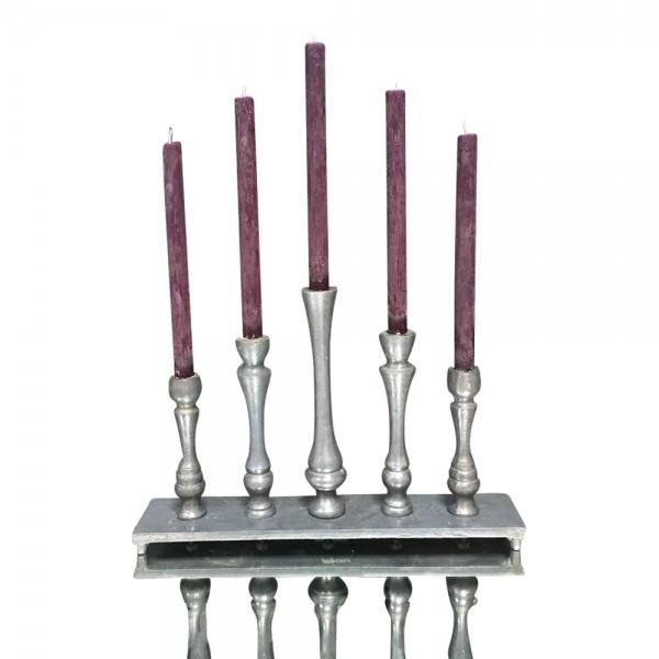 PTMD 5-armiger Deko Aluminium Kerzenständer Leuchter für Stabkerzen