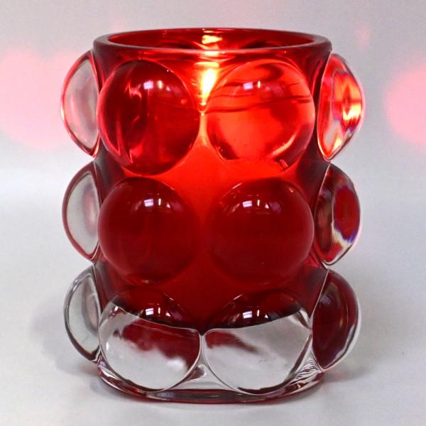 Bolsius ReLight® Kerzenhalter Windlicht Teelichthalter Bubble mit Kerze H 9,5 cm