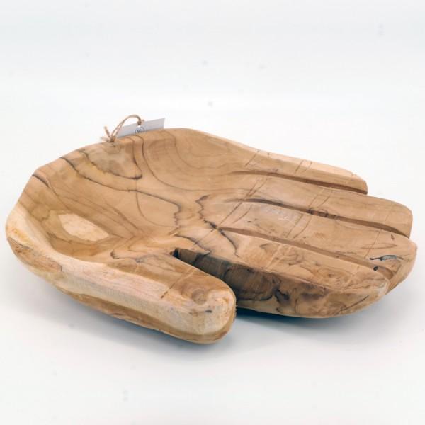 dasmöbelwerk Teakholz Teakschale Deko Obst Schale Vintage 40 cm Massiv Holz