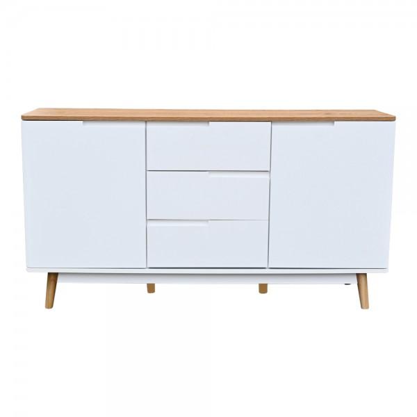 Sideboard Schubladen Kommode JAMES Skandinavisch Wohnzimmer Möbel 140 cm B-WARE