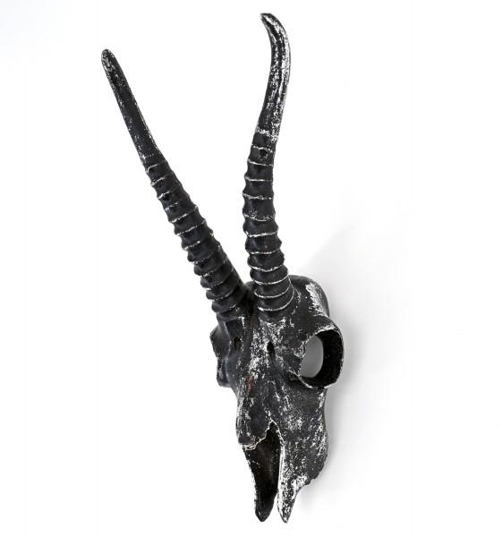 PTMD Deko Kopf Antilope Wanddekoration Figur mit Glitzerstaub 35 cm