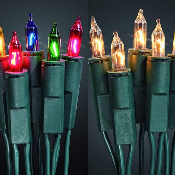 dasmöbelwerk Weihnachts Mini Lichterkette 100er Advent Lichterketten warmweiß oder bunt