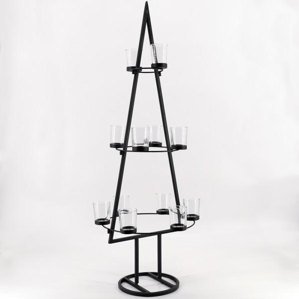 PTMD Teelichthalter Weihnachtsbaum Kerzen Pyramide Advent H91 cm