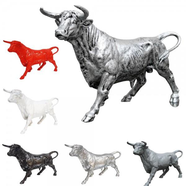 dasmöbelwerk Bulle Stier stehend Figur massiv H 27 cm