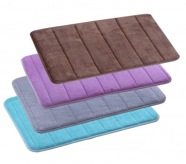 Badematte Memory Foam Coral Samt Rutschfeste Badezimmer-Matte Dusche Teppich