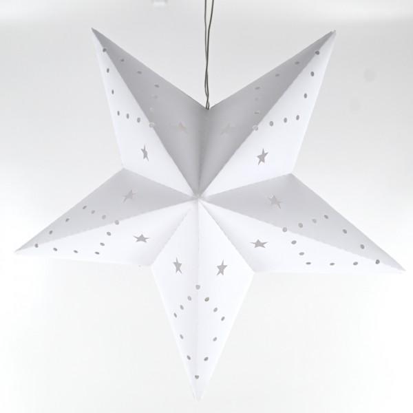 LED-Weihnachtsstern Batteriebetrieb Dekostern Fensterstern Stern weiß Ø 30 cm