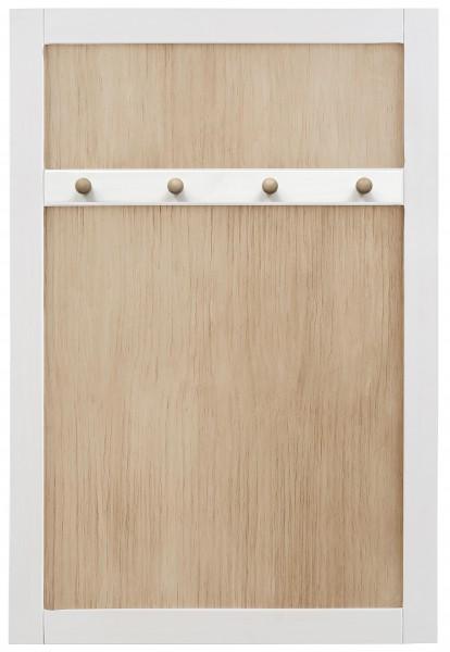 Garderobe Wandpaneel mit 4 Haken weiß 57705