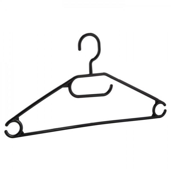 10-100 Stück Set Kleiderbügel Kunststoff Bügel Anti-Rutsch-Rillen Haken drehbar