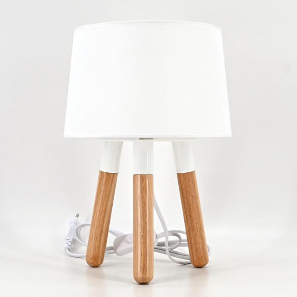 dasmöbelwerk Tischlampe Lampe Nachttischlampe Stativ Leuchte Stehlampe mit Schirm