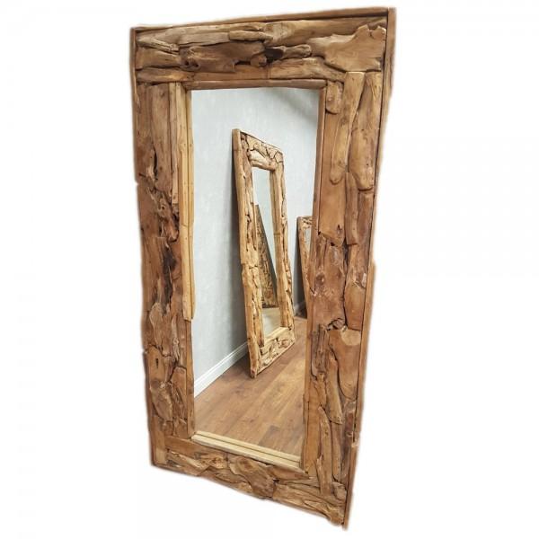 dasmöbelwerk Teak Spiegel massiv Wandspiegel 160-200 cm