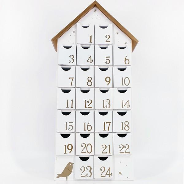 dasmöbelwerk Weihnachten Advent Kalender Holz Schubladen zum selbst befüllen