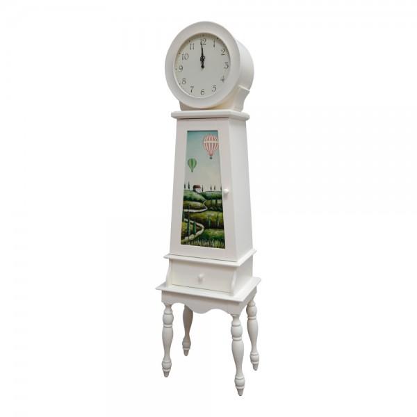dasmöbelwerk Standuhr Uhr Landhaus Kommode weiß Vintage Antik 483327