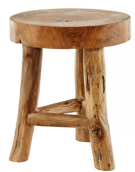 Beistelltisch Teak Wurzel Hocker Schemel massiv Holz