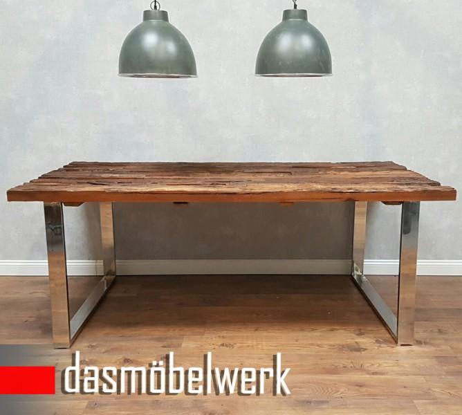 Fesselnd ... Vorschau: Massiver Esstisch Recycling Holz Antik Look Esstisch  Esszimmertisch 3 Größen 180/200/ ...
