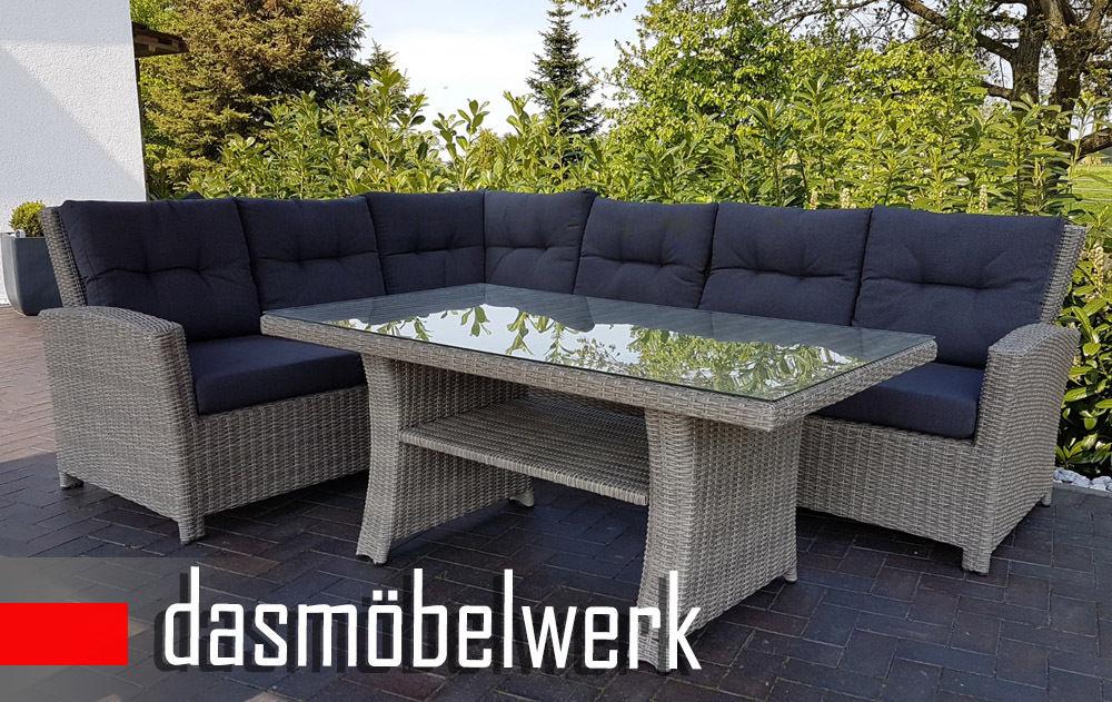 Fabulous Polyrattan Loungemöbel-Set | Versandkostenfrei | dasmoebelwerk.de VK38
