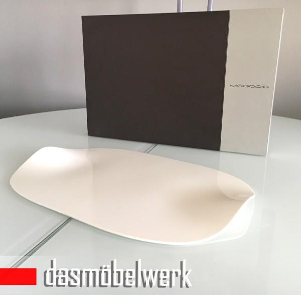 dasmöbelwerk Magppie Design Tablett Servierplatte weiß Geschenkverpackung