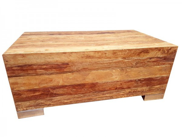 Teak Couchtisch Recycling Teak Holz Beistelltisch Coffee Table LOBO 100 cm