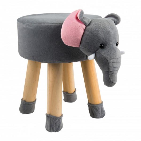 Tier Kinder Polster Hocker Elefant Plüsch-Bezug Tiermotiv Kinderzimmer Möbel