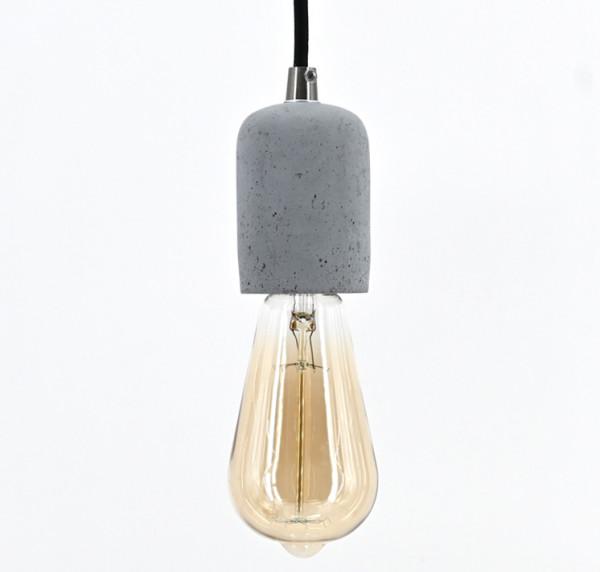 Vintage Pendelleuchte Retro Hängelampe Lampenfassung Kabel Schnurpendel Beton