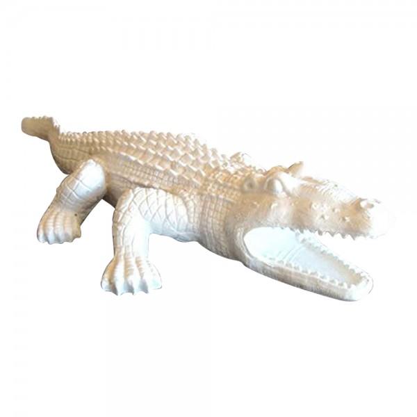 Deko Figur Krokodil Garten Teich Gartenfigur Alligator