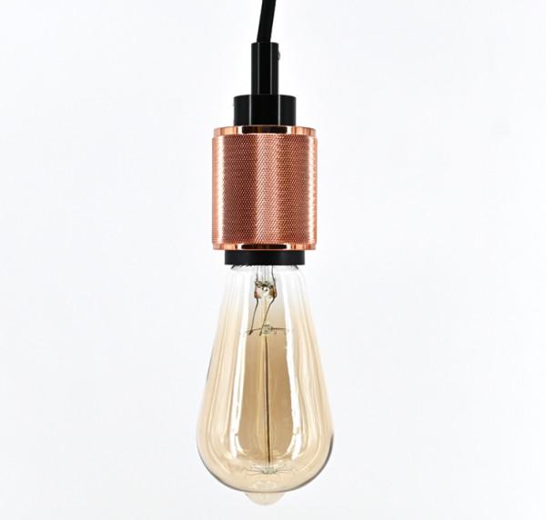 Vintage Pendelleuchte Retro Hängelampe Lampenfassung mit Kabel Schnurpendel E27