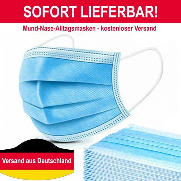 200 Stk Medizinische Einweg Mundschutz OP-Maske 222 Schutzmaske 3-lagig Atemschutz Maske