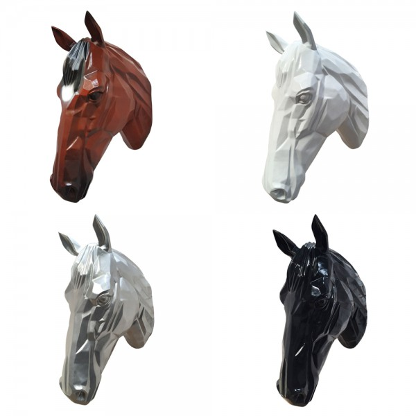 dasmöbelwerk XXL Pferdekopf Wanddekoration Tierkopf Pferd Skulptur H 67 cm
