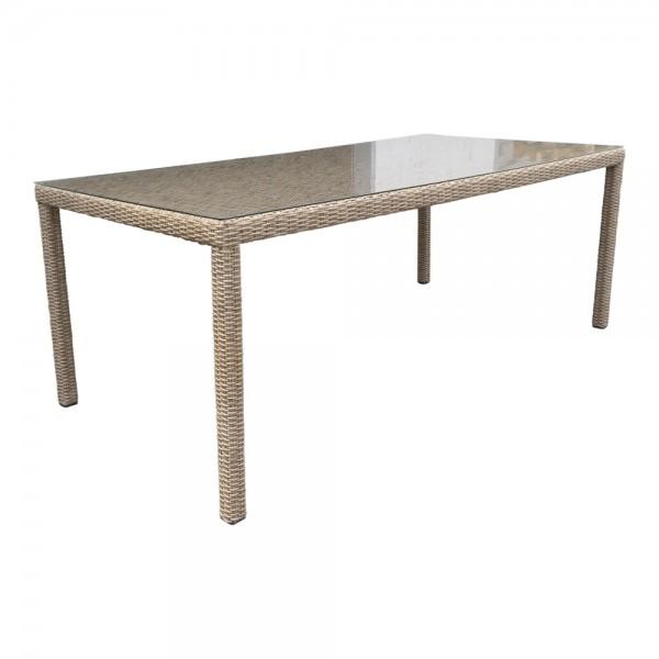 dasmöbelwerk Polyrattan Gartentisch Esstisch 6 Personen 180 cm
