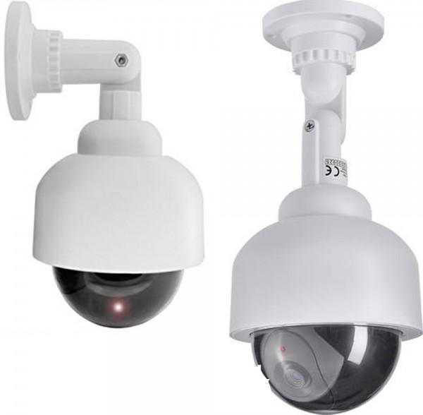 LED Security Kamera Alarm Dummy Attrappe Überwachungskamera Innen- und Außen