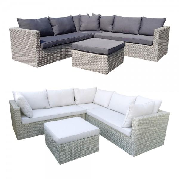 dasmöbelwerk Polyrattan Garten Sofa Lounge Ecklounge PARMA