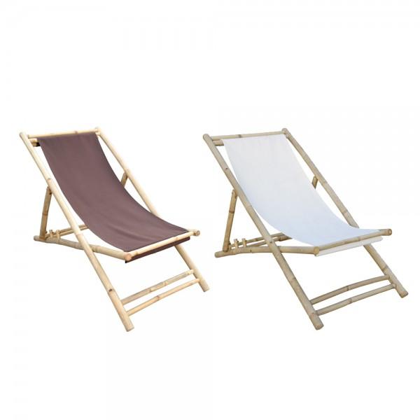 dasmöbelwerk Bambusliege Relax-Liegestuhl Bambus 3-fach verstellbar klappbar Garten Terrasse