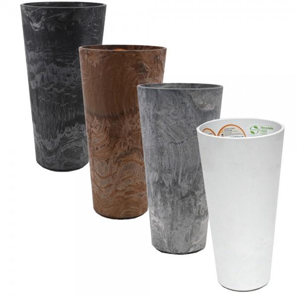 Artstone Pflanztopf CLAIRE Übertopf Vase Pflanzgefäß Pflanzkübel Drainagesystem H 26 cm