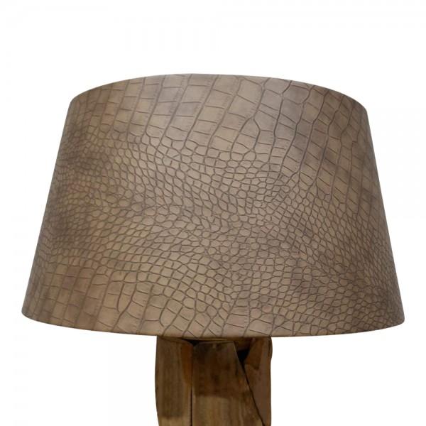 Lampenschirm für Stehleuchten aus Kunstleder Ø 50 cm in 3 Farben