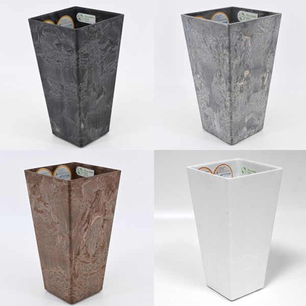 Pflanztopf ELLA Übertopf Vase Pflanzgefäß Pflanzkübel Drainagesystem H 26 cm