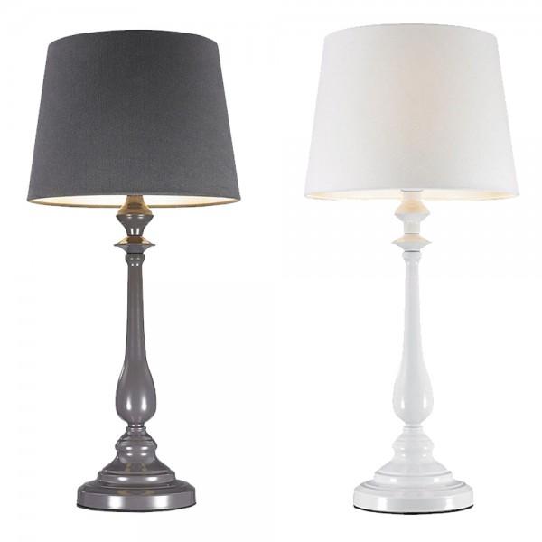 Tischleuchte JORDI Stehleuchte Tischlampe H 64 cm für LED Leuchtmittel Anthrazit und Weiß