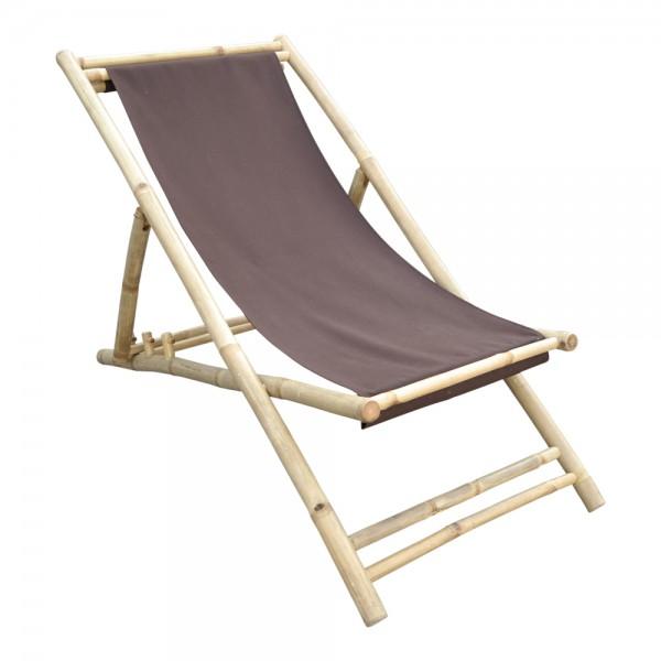 Bambusliege Relax-Liegestuhl höhenverstell- und klappbar