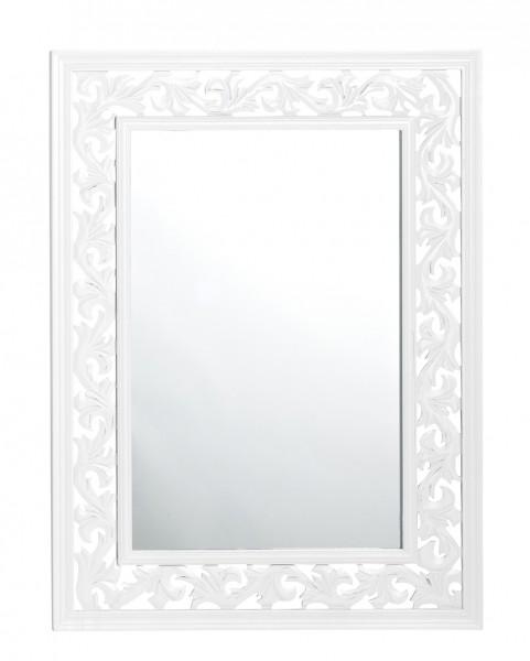 dasmöbelwerk Spiegel ROSALI Landhaus 60x80 cm Wandspiegel weiß Shabby