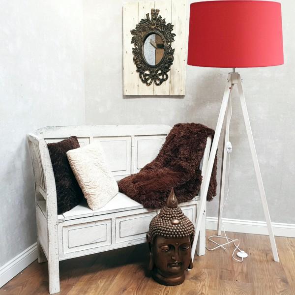 dasmöbelwerk Tripod Stehlampe Landhaus Leuchte Lampenschirm Dreibein dimmbar E27